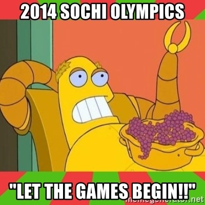 """Hedonism Bot - 2014 Sochi Olympics """"Let the Games Begin!!"""""""