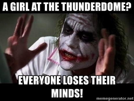 joker mind loss - A girl at the thunderdome? Everyone loses their minds!