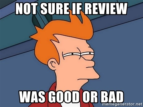 Futurama Fry - NOT SURE IF REVIEW WAS GOOD OR BAD