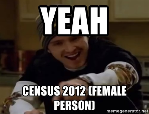 Science Bitch! - YEAH CENSUS 2012 (FEMALE PERSON)