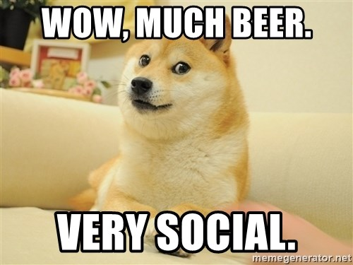 so doge - Wow, Much beer.   Very social.