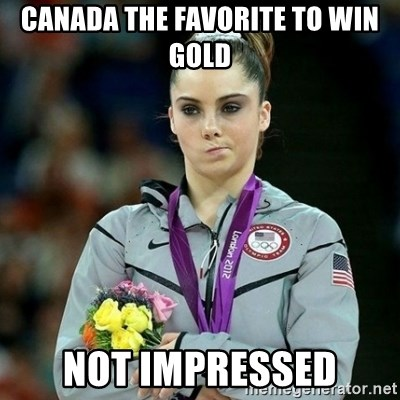 McKayla Maroney Not Impressed - Canada the favorite to win gold not impressed