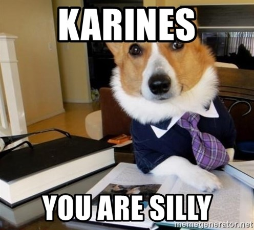 Dog Lawyer - Karines You are silly