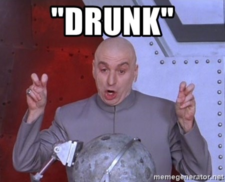 "Dr. Evil Air Quotes - ""drunk"""