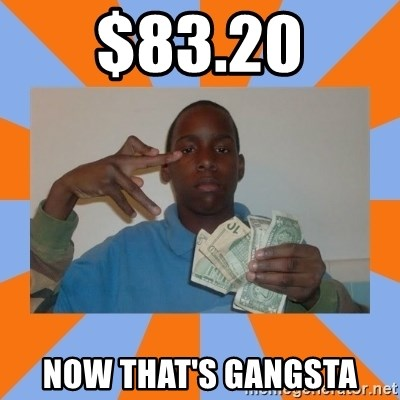 Now That's Gangsta - $83.20 now That's gangsta