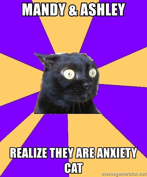 Anxiety Cat - Mandy & Ashley Realize they are anxiety cat