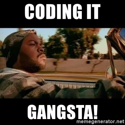 Ice Cube- Today was a Good day - Coding it  Gangsta!