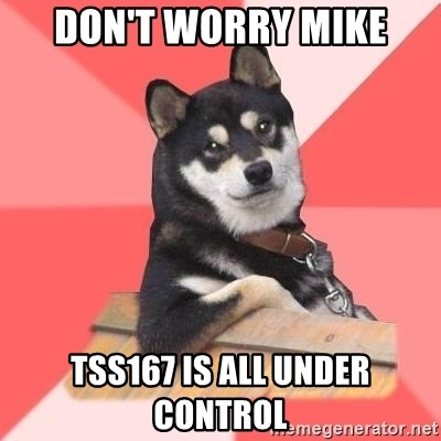 Cool Dog - don't worry mike TSS167 is all under control