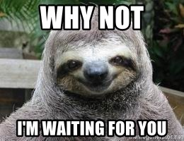 Sexual Sloth - WHY NOT  I'M WAITING FOR YOU