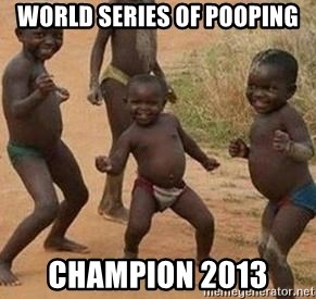 african children dancing - world series of pooping champion 2013