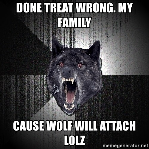 Insanity Wolf - Done treat wrong. My family   Cause wolf will attach l0Lz