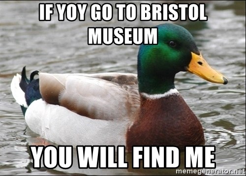Actual Advice Mallard 1 - if yoy go to bristol museum you will find me