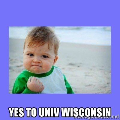 Baby fist -  Yes to Univ Wisconsin