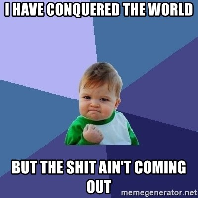Success Kid - I have conquered the World But the shit ain't coming out