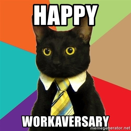 Business Cat - Happy Workaversary