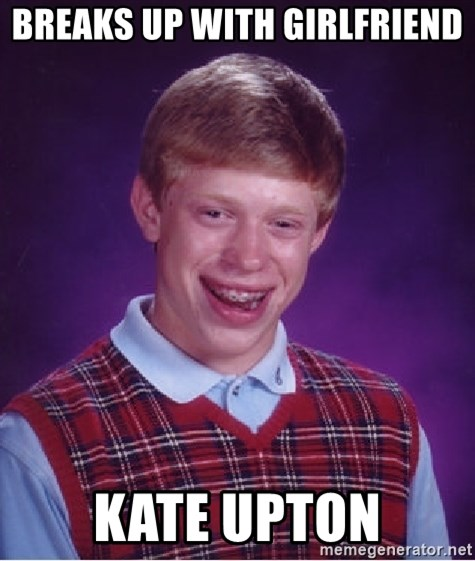 Bad Luck Brian - Breaks up with Girlfriend Kate Upton