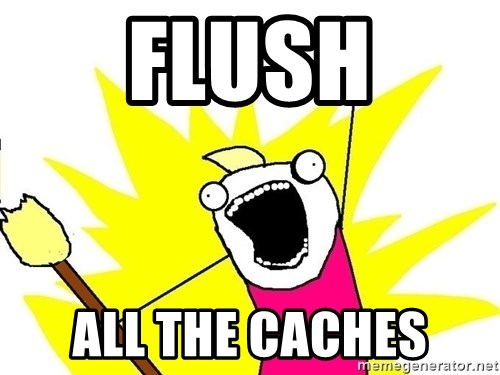 x all of the y - Flush All the Caches