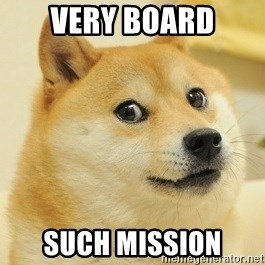 Dogeeeee - very board such mission