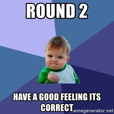 Success Kid - round 2 have a good feeling its correct