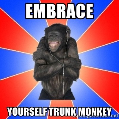 Monkey Music Lover - Embrace  Yourself trunk monkey