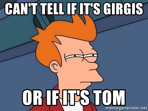 Futurama Fry - Can't tell if it's Girgis or if it's tom