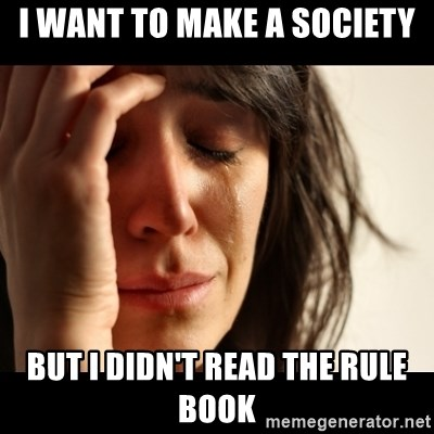 crying girl sad - i want to make a society but i didn't read the rule book