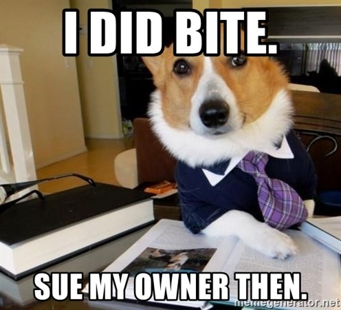 Dog Lawyer - I did bite. Sue my owner then.