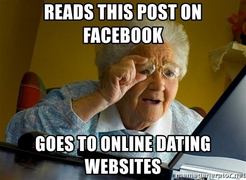 Internet Grandma Surprise - reads this post on facebook goes to online dating websites