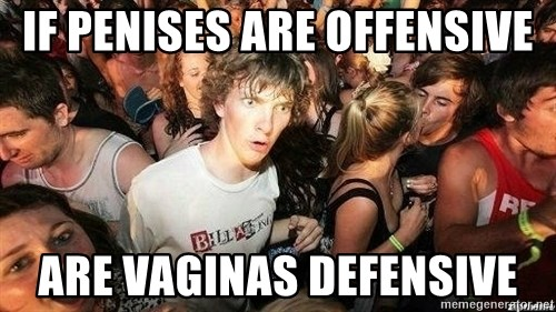 -Sudden Clarity Clarence - If penises are offensive are vaginas defensive