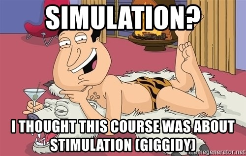 quagmire - Simulation? I thought this course was about stimulation (giggidy)