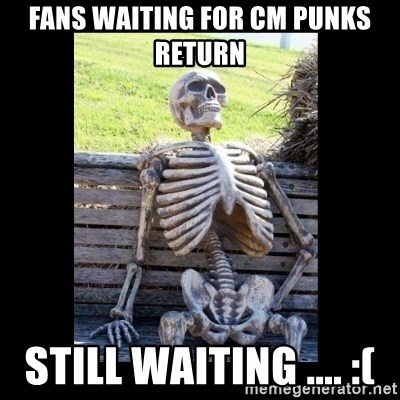 Still Waiting - Fans waiting for CM Punks return still waiting .... :(