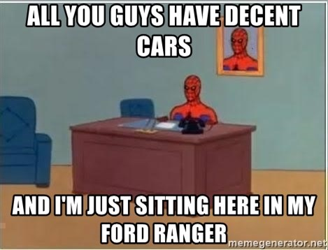 Spiderman Desk - All you guys have decent cars and i'm just sitting here in my ford ranger