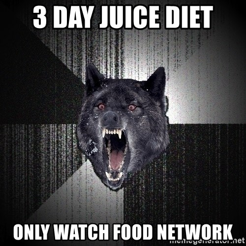 Insanity Wolf - 3 day juice diet Only watch food network