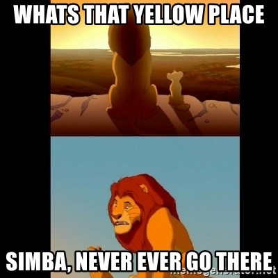 Lion King Shadowy Place - wHATS THAT YELLOW PLACE SIMBA, NEVER EVER GO THERE
