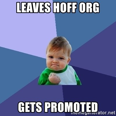 Success Kid - leaves hoff org gets promoted