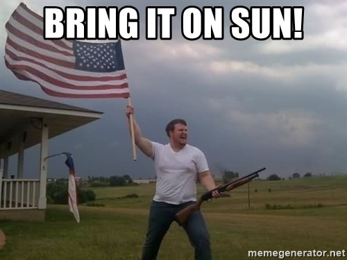 american flag shotgun guy - Bring it on sun!