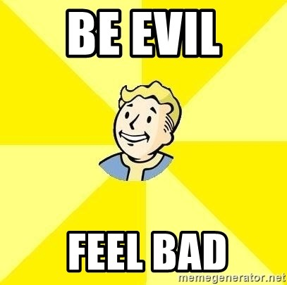 Fallout 3 - Be Evil  Feel bad