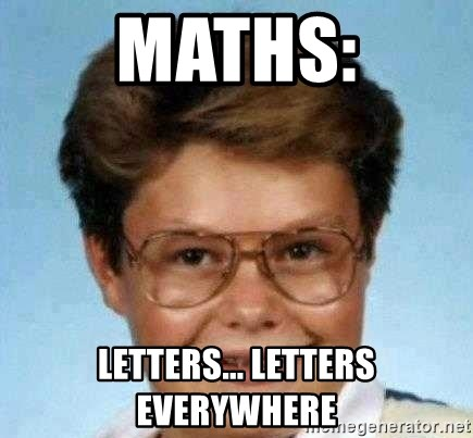 good luck larry hd - Maths: Letters... LETTERS EVERYWHERE