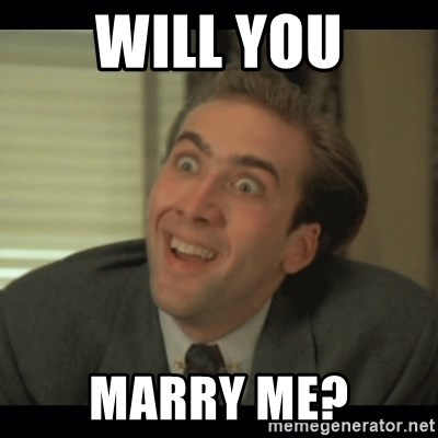 Nick Cage - Will you Marry me?