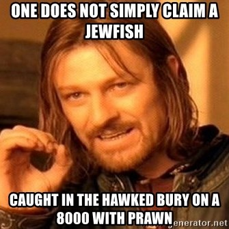One Does Not Simply - One does not simply claim a jewfish  Caught in the hawked bury on a 8000 with prawn