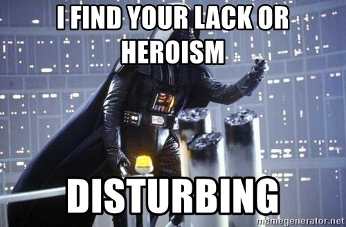 Darth Vader Shaking Fist - i find your lack or heroism disturbing