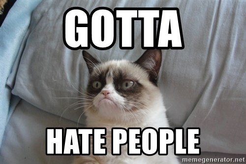 Grumpy cat good - GOTTA HATE PEOPLE