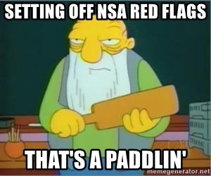 Jasper Beardly - Setting off NSA red flags That's a paddlin'