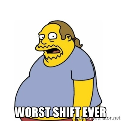 Comic Book Guy Worst Ever -  WORST SHIFT EVER