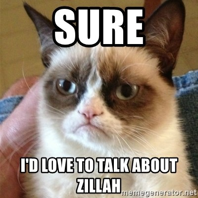 Grumpy Cat  - Sure I'd love to talk about zillah