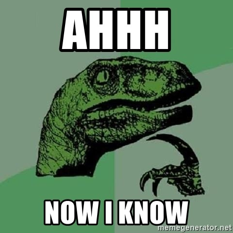 Philosoraptor - Ahhh now i know