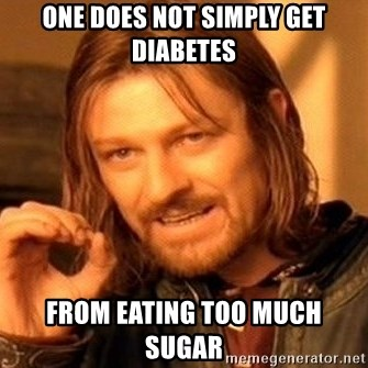 One Does Not Simply - One does not simply get diabetes from eating too much sugar