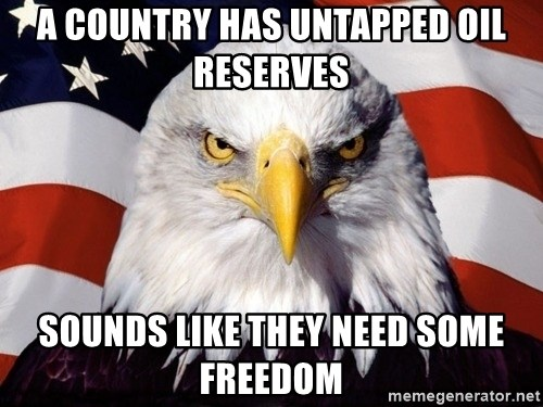 American Pride Eagle - A country has Untapped Oil reserves Sounds like They need some freedom