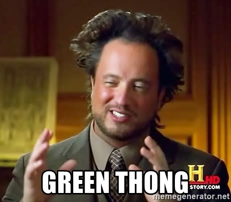 Giorgio A Tsoukalos Hair -  Green Thong