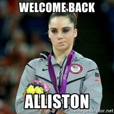 McKayla Maroney Not Impressed - Welcome Back Alliston